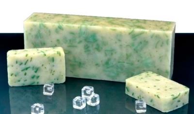 Мыло натуральное С МЕНТОЛОМ (мыльная мозаика)