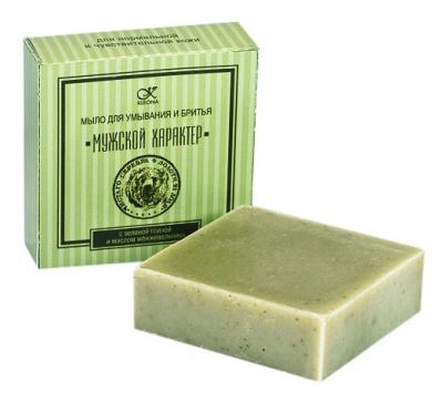 Мыло для бритья с зеленой глиной и маслом можжевельника