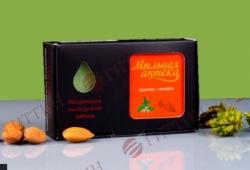 Мыло натуральное КРАПИВА с  маслом сладкого миндаля. (Мыльная аптека)