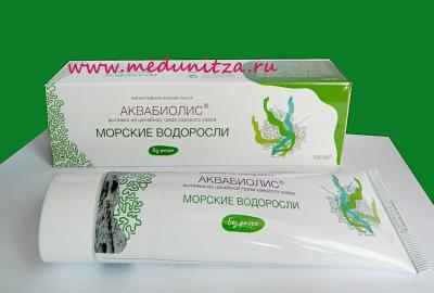Зубная паста АКВАБИОЛИС морские водоросли